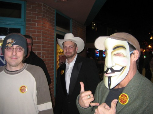 Adam Kokesh (with hat) turned out for For Liberty premiere in Phoenix, Arizona