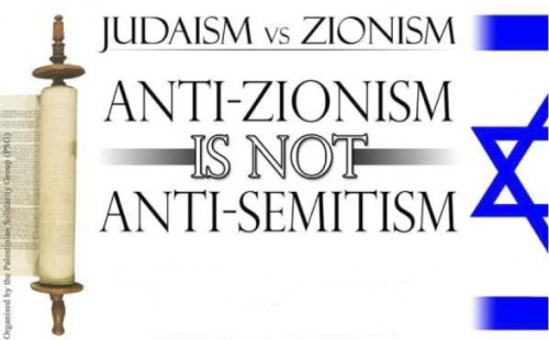 Judaism is opposite from Zionism