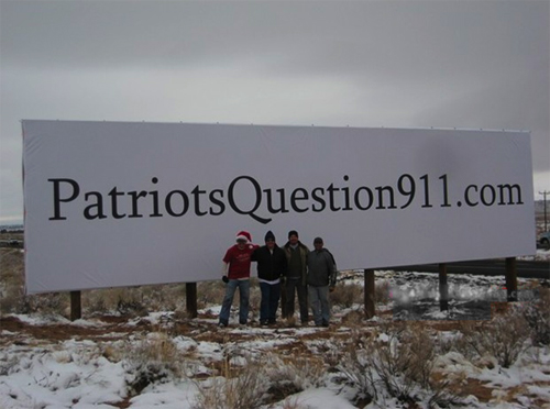 9/11 truth, 9/11 billboard, patriots question 9/11, 4409, arizona activists, Jason Shelton, Morpheus, Freedom's Phoenix