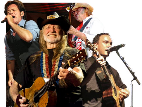 Wilie Nelson and Farm Aid Musicians