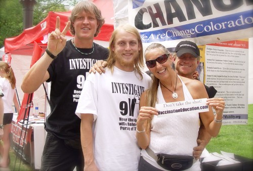 Sharlene with Law, Bruce, and Monty from We are Change Colorado
