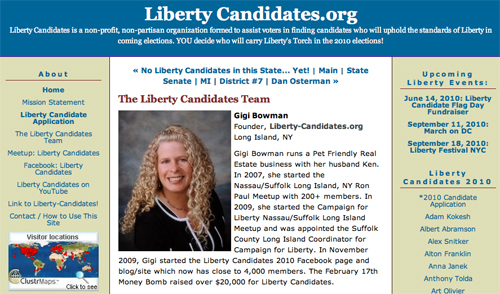 Liberty Candidates Website is Easy to Use