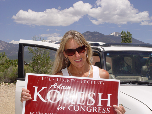 Sharlene Holt Volunteering for Adam Kokesh's Campaign in New Mexico