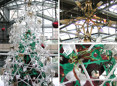 18 Clever Christmas Trees Created With Recycled Materials on Christmas Tree5