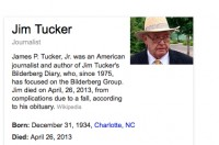 RIP Journalist Jim Tucker; he was on the trail of Bilderberg for decades!