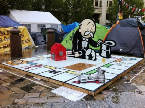 Banksy sculpture for Occupy London