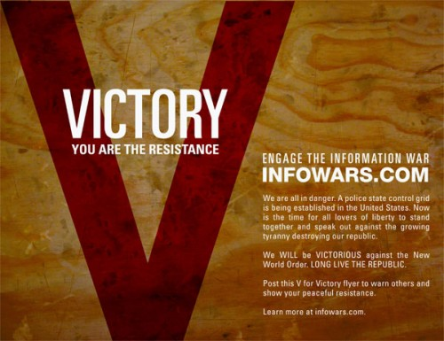 "The Alex Jones' ""V"" for Victory Campaign is Wildly Successful"
