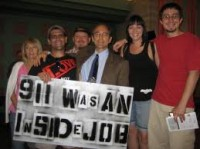 Richard Gage with fervent supporters in Phoenix Arizona