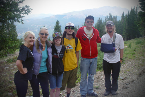Activist Sharlene Holt (second from L) at Wayne Walton's Mountain Hours Event in Breckinridge Colorado.