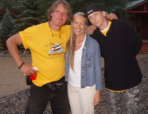 Musician and activist Sharlene Holt with We are Changers Law Johnston and Luke Rudkowski.