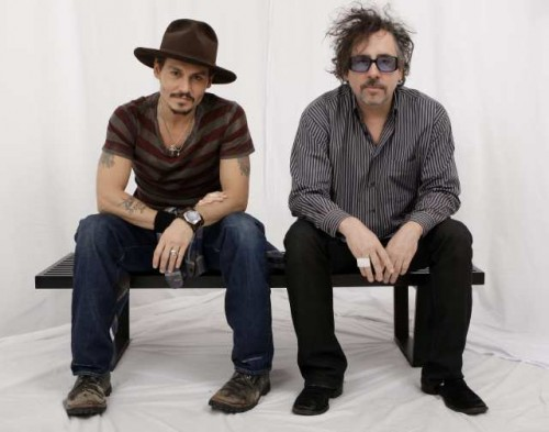 Actor Johnny Depp, left, and director Tim Burton