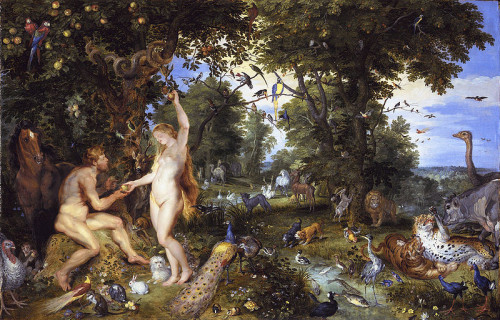 "Adam and Eve by Jan Brueghel de Oude and Peter Paul Rubens: Is the ""Afterbirth,"" aka ""Eve"" the ""pass thru"" for Adam's God-given DNA to the demonic Church/State?"