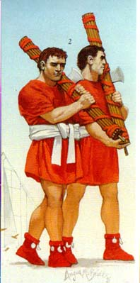 Lictors Carrying Roman Fasces