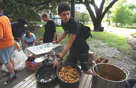 Food Not Bombs Activists Feeding the Homeless