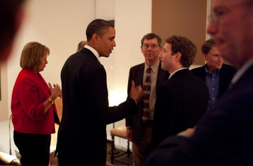 Prez Obomber and Mark Zuckerberg Getting On Smashingly