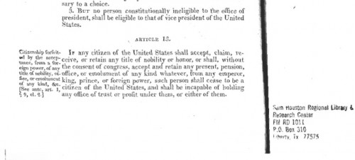 Constitution with Original 13th Amendment