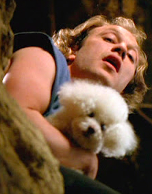 Buffalo Bill: It puts the lotion on its skin.