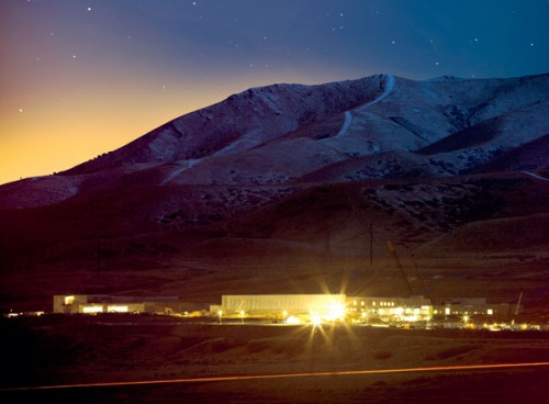 NSA spy center nearing completion on a part of Camp Williams, the Utah National-Guard-training base.
