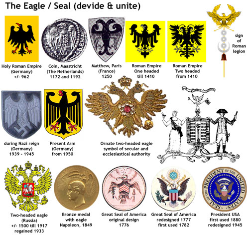 The eagle is a hunter. It also feeds on carrion and mates for life.
