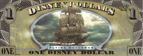 Disneyland Flying Dutchman Dollar.