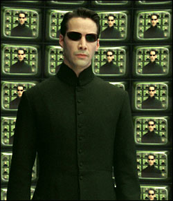 "Neo, in the movie, The Matrix, as ""Creditor."""