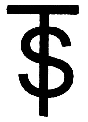 Snake on a pole: the symbol for Mercury resembles the dollar sign.