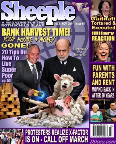 David Dees' New Magazine, Sheeple, for the Rothschild Slave