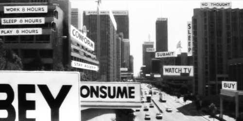 Billboards from the classic film by John Carpenter, They Live