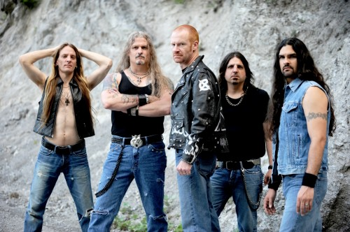 Jon Schaffer (2nd from L) with Iced Earth