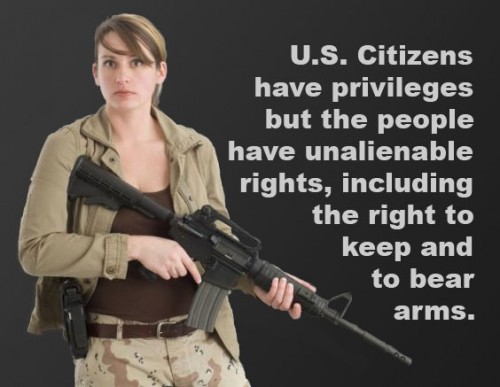 A clear right to own arms is retained by the people
