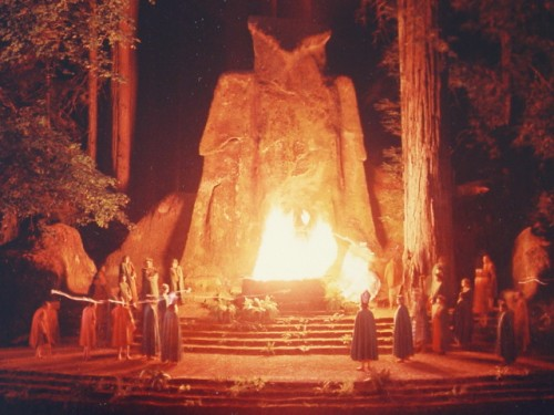 The Elite burn a human being in effigy every year at Bohemian Grove