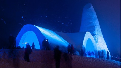 Bavarians built this church out of ice and snow