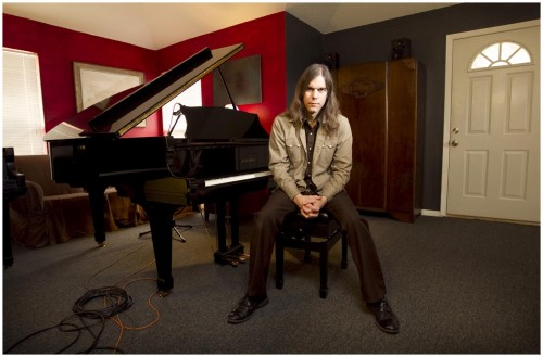 Composer Graham Reynolds at his Austin studio
