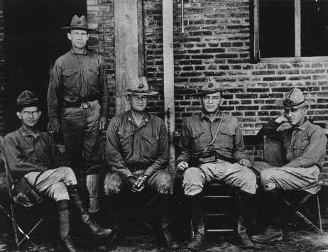 Smedley Butler (far right) with fellow officers at Veracruz
