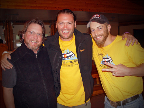 Adam Kokesh (R) with Joby Weeks and Gary Fielder at Wayne Walton's Mountain Hours Event circa 2012