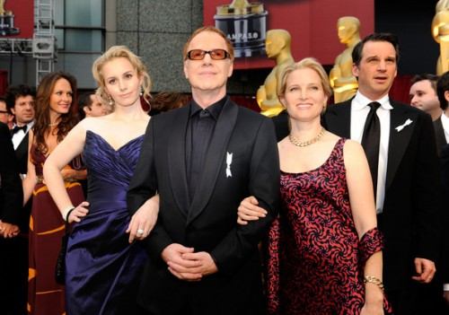 (L-R) Mali Elfman, composer Danny Elfman and wife actress Bridget Fonda arrives at the 81st Annual Academy Awards held at Kodak Theatre on February 22, 2009 in Los Angeles