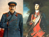 Stalin and Washington – two opposing ideologies, one hand gesture