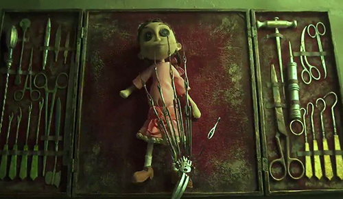 Coraline is manipulated by the hidden hand