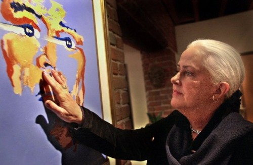 Rock icon, artist, and activist Grace Slick paints every day