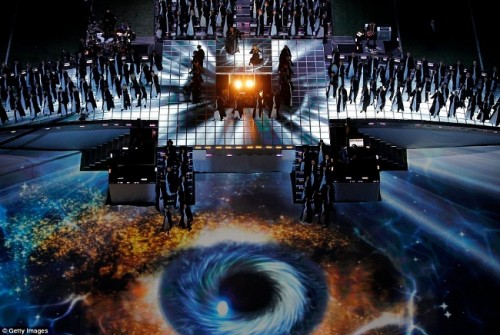 All-Seeing Eye at Madonna's Halftime Show Superbowl 2012