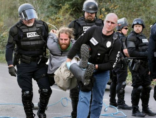 While you could be risking your life, a clear right to resist unlawful arrest has been found in the case law