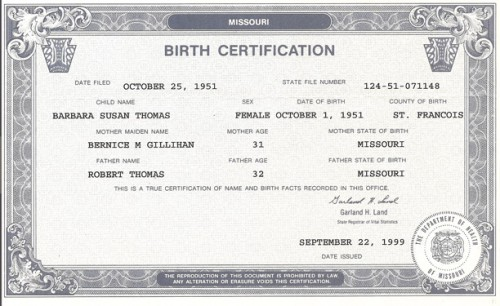 A birth certificate provides all of the information required to read the natal chart.