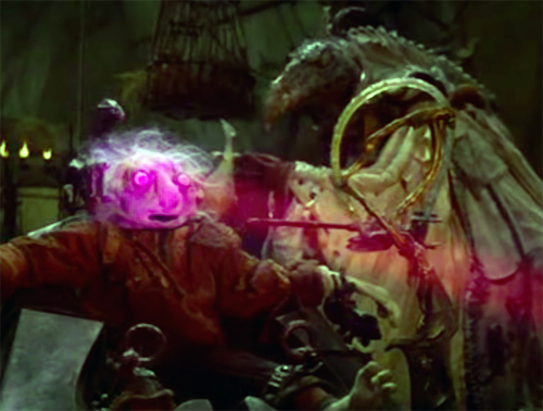 A podling being sucked of its essence in the movie, The Dark Crystal