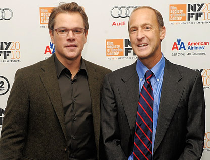 Matt Damon, left, and film-maker Charles Ferguson