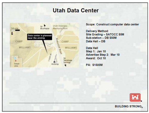 Utah Data Center will spy on Americans