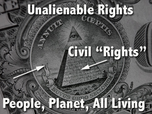 "Civil so-called ""rights"" of the statutory person are not superior to the people's rights"