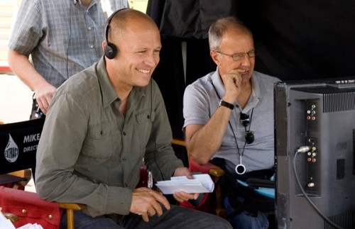 Mike Judge (L) filmmaker for Office Space and Idiocracy