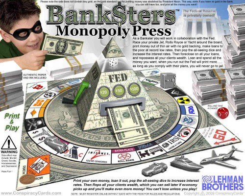 Artist Den Beauvais depicts the banksters game accurately
