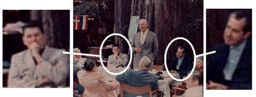 Reagan and Nixon attended Bohemian Grove in 1957