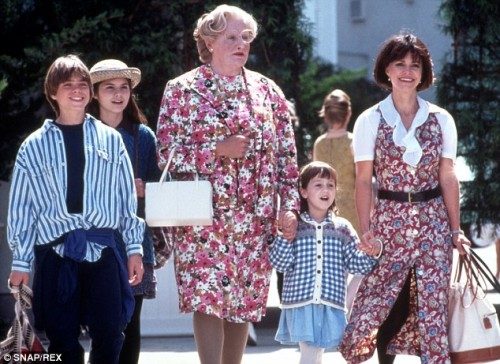 Robin Williams stars in Mrs. Doubtfire (1993)